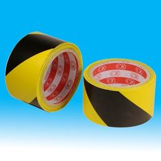 China rubber adhesive underground electrical warning tape for road safety / Barrier sign supplier