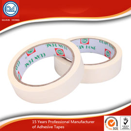 China White Flexible Masking Tape , Natural Rubber Adhesive Masking Paper Tape supplier