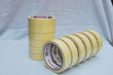 China yellow Solvent Rubber Based Colored Masking Tape jumboo Roll , 80mic 140mic factory
