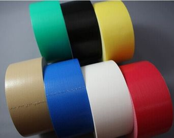China Natural Rubber Adhesive red Cloth Duct Tape For Heavy Duty Packaging factory
