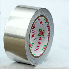 China Metal Finishing Aluminum Foil Tape Rubber 3.3mils Single Side Tapes factory