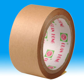 China fiber reinforced hot melt adhesive Kraft paper tape , Reinforced packaging Tape distributor