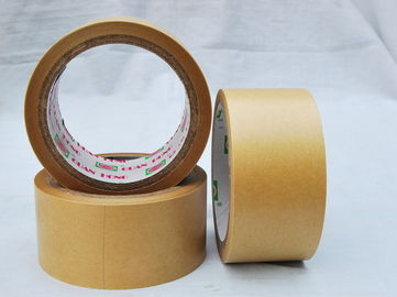 China custom tan / red / green wide kraft paper tape with strong adhesive distributor