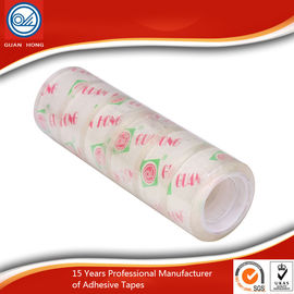 China Long Lasting BOPP Stationery Tape , 12mm Coloured Packaging Tape distributor